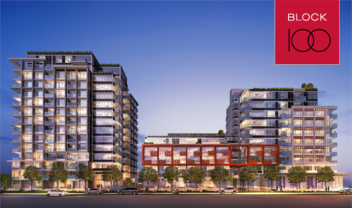 SOLD   $479,900, 1 Bed + flex +1 bath, 830 sq ft  Block 100 Onni Ltd. Vancouver, B.C.