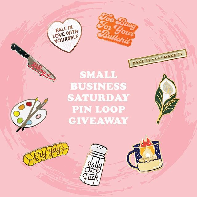 Welcome to the Small Business Saturday Pin Loop Giveaway! This loop giveaway is open to worldwide participants from November 24th - December 1st and one lucky winner will get all pins shown!  Rules for Entry: 1) Like this post. 2) Follow the tag on the photo to go to the next maker to follow them and like their post. 3) Tag a friend in the comments. 4) Must be following all loop participants to win. We will be checking! 5) Repeat steps 1 and 2 until you get back to the post you began with and you are done! ✨Don't forget to support your favorite small businesses near and far this holiday season!✨ *Winner will be announced on December 3rd *Fake accounts or accounts dedicated to giveaways will be disqualified *Per Instagram rules, we must mention this is in no way sponsored, administered, or associated with Instagram, Inc. By entering, entrants confirm they are 13+ years of age, release Instagram of responsibility, and agree to Instagram's term of use.