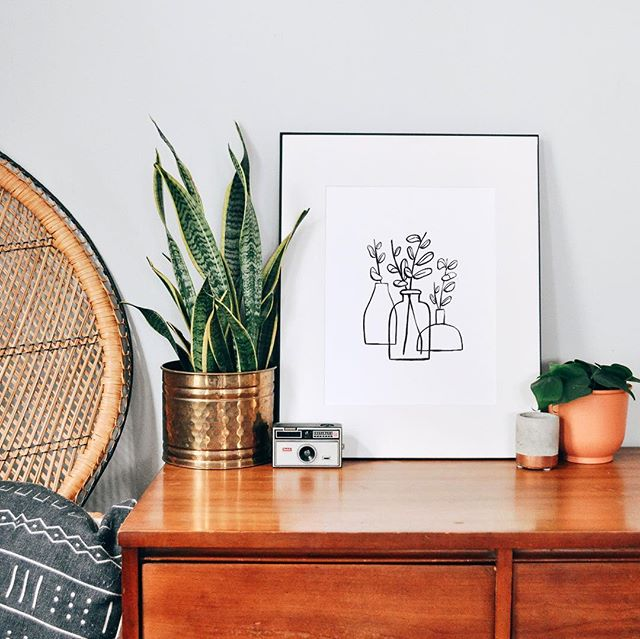 I recently ordered a ton of beautiful new plants from @thesill and was inspired to make a new print! Grab this plant print in my shop from the link in my bio! #plantlady