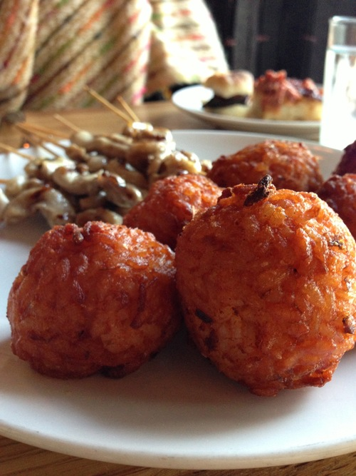 Arancine al' sugo & charred intestines