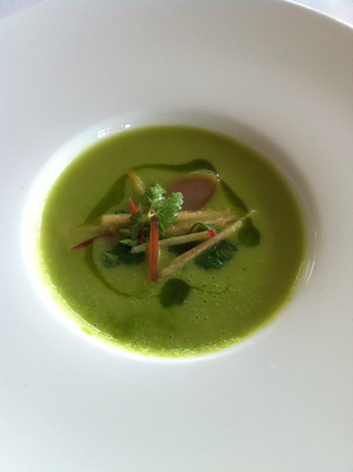 Rustic Arugula & Pink Lady Apple Soup