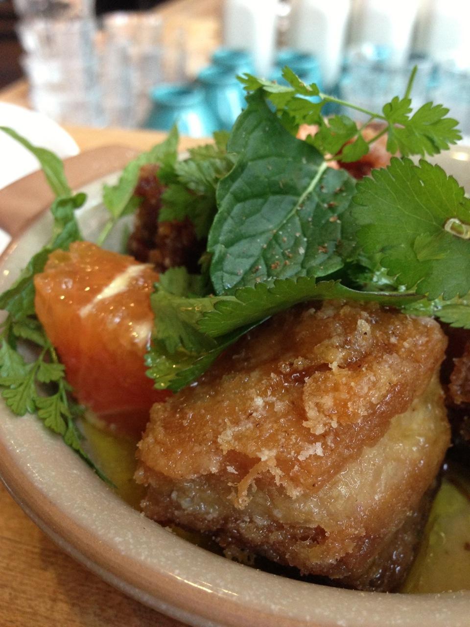 Pork Belly and Citrus Salad