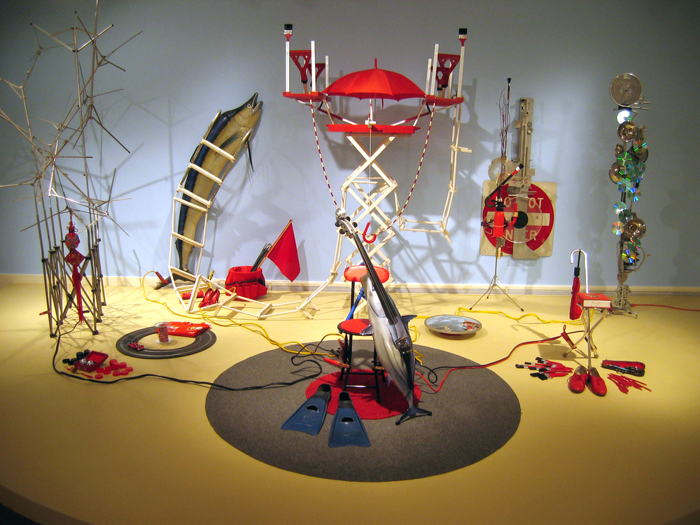 'Tilted Picnic' installation, Dayton Art Institute, 2008