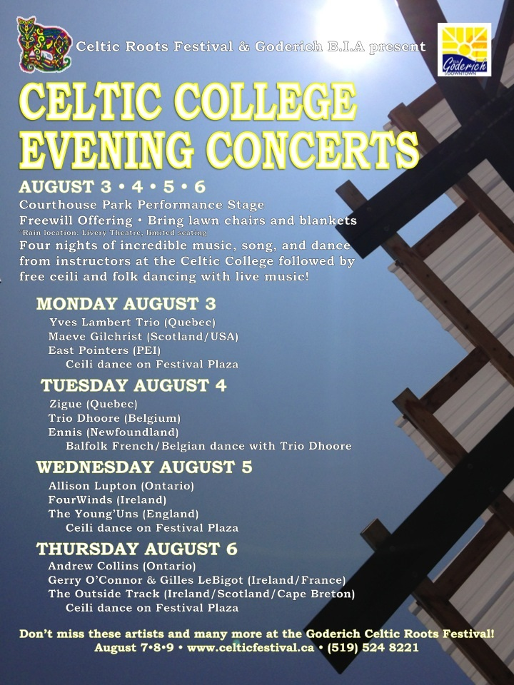 Celtic College Evening Concerts 2015