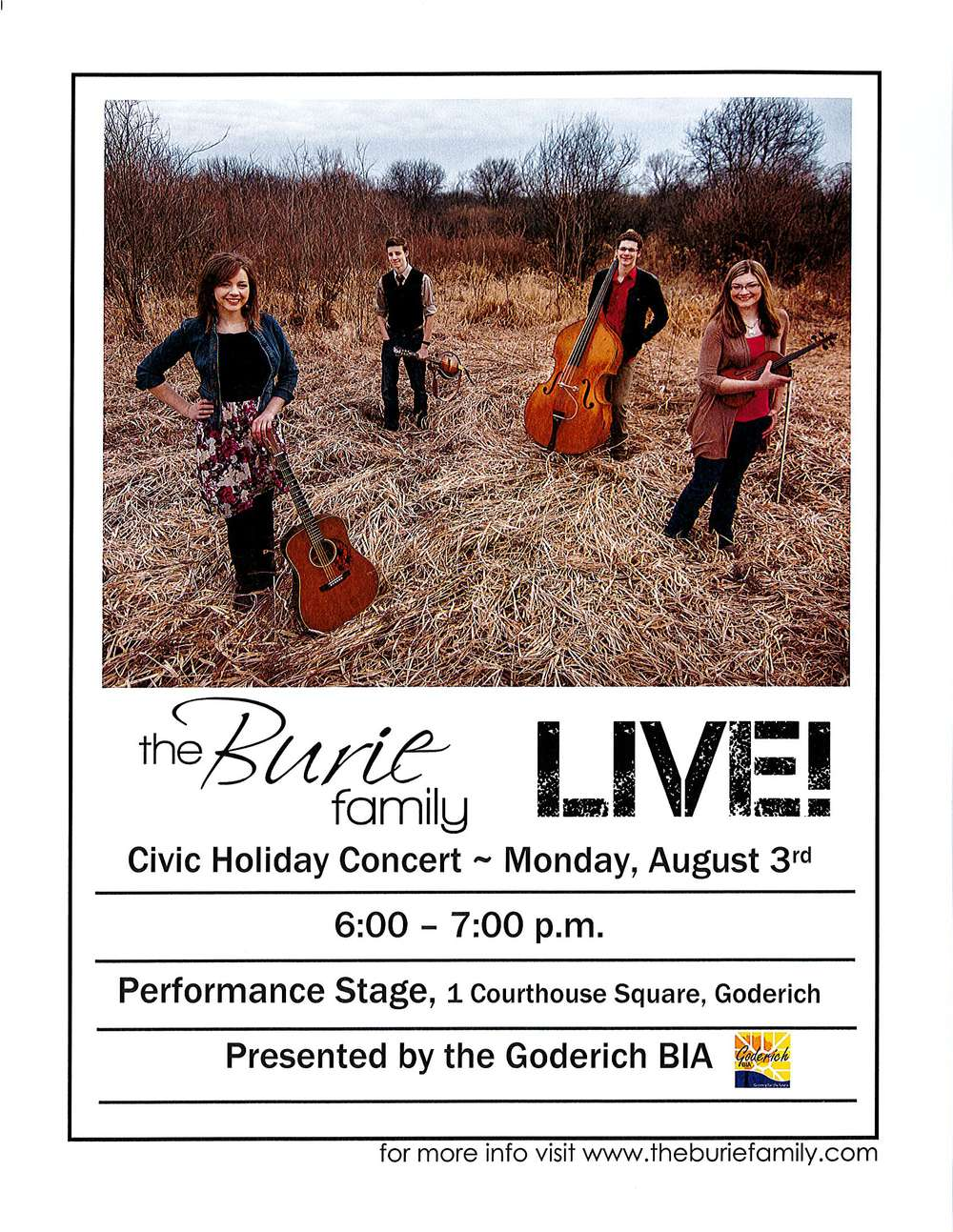 Civic Holiday Monday CONCERT 2015