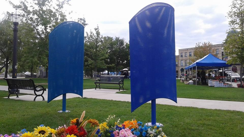 Witness the unveiling of public art  in COurthouse Park this Saturday September 5, 2015 at noon.  Located near the small gazebo in courthouse park across the street from Elizabeth's Art Gallery, in Downtown Goderich.