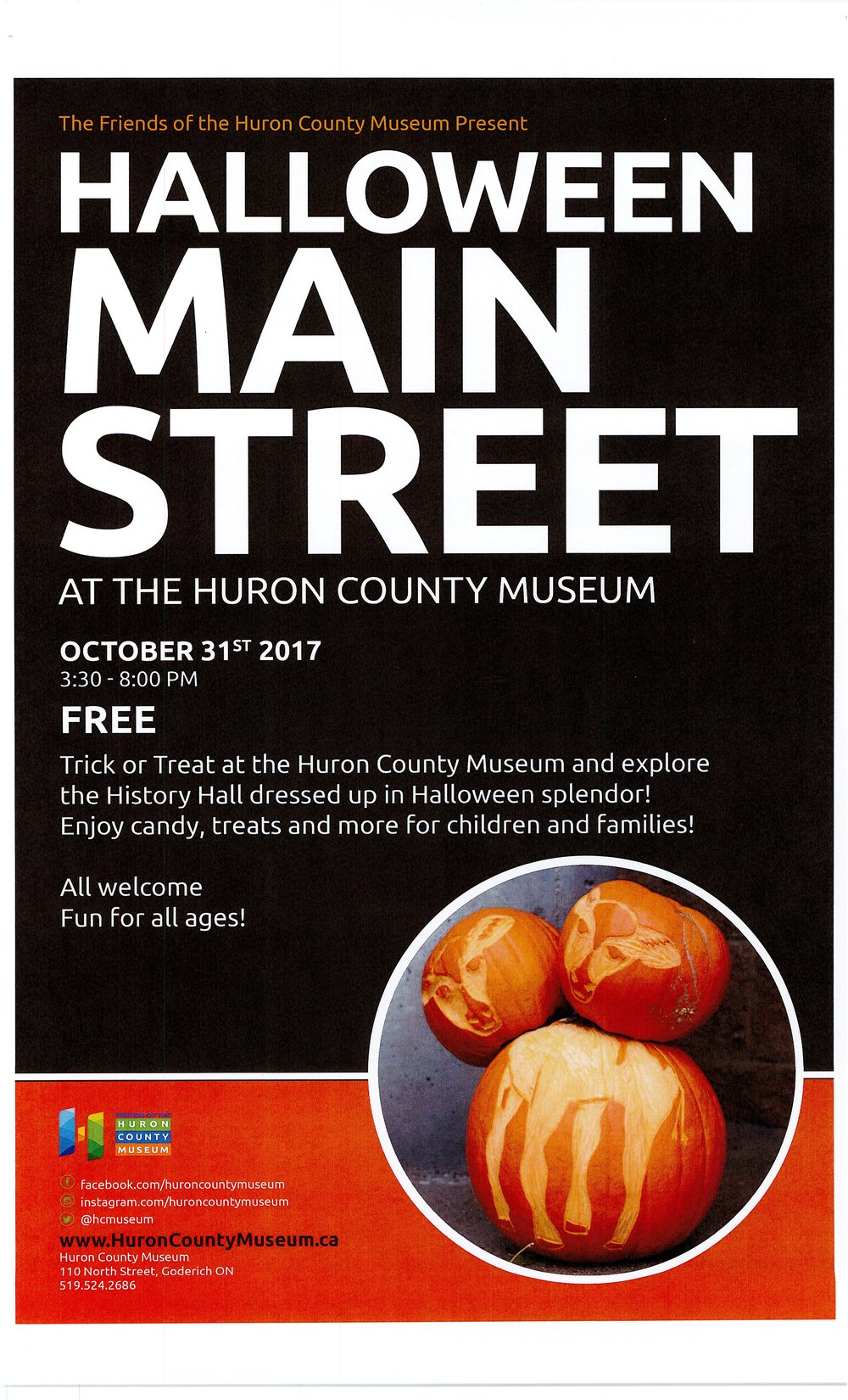 Halloween MAIN STREET at the Huron County Museum