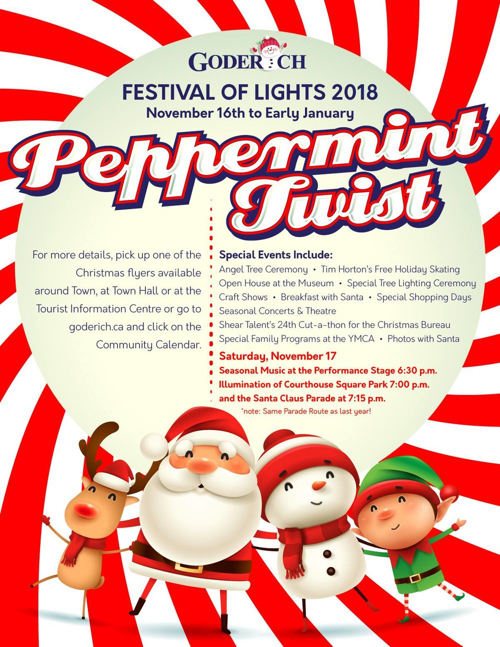 Town of Goderich Festival of Lights 2018