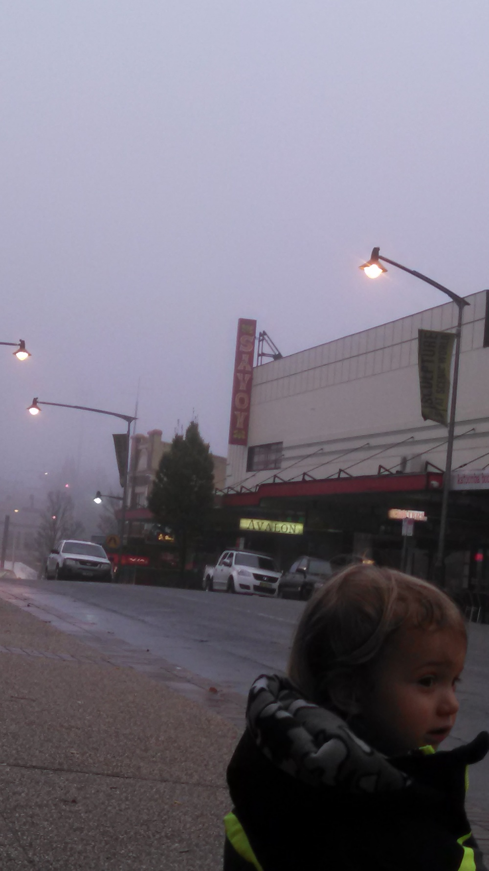 Up in the clouds- waiting for the bus in Katoomba.
