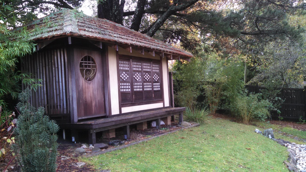 Grospapi's magnificent Japenese Tea House- that he designed and managed the building of.