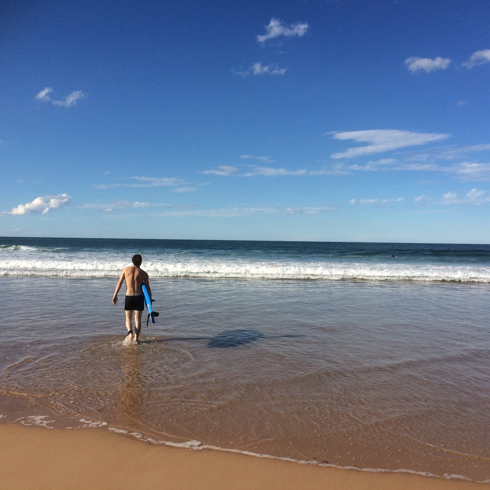 Our first half of the day in Sydney was graced by sunny warmth- perfect for our visit to Manly Beach, where Bryan got to surf.