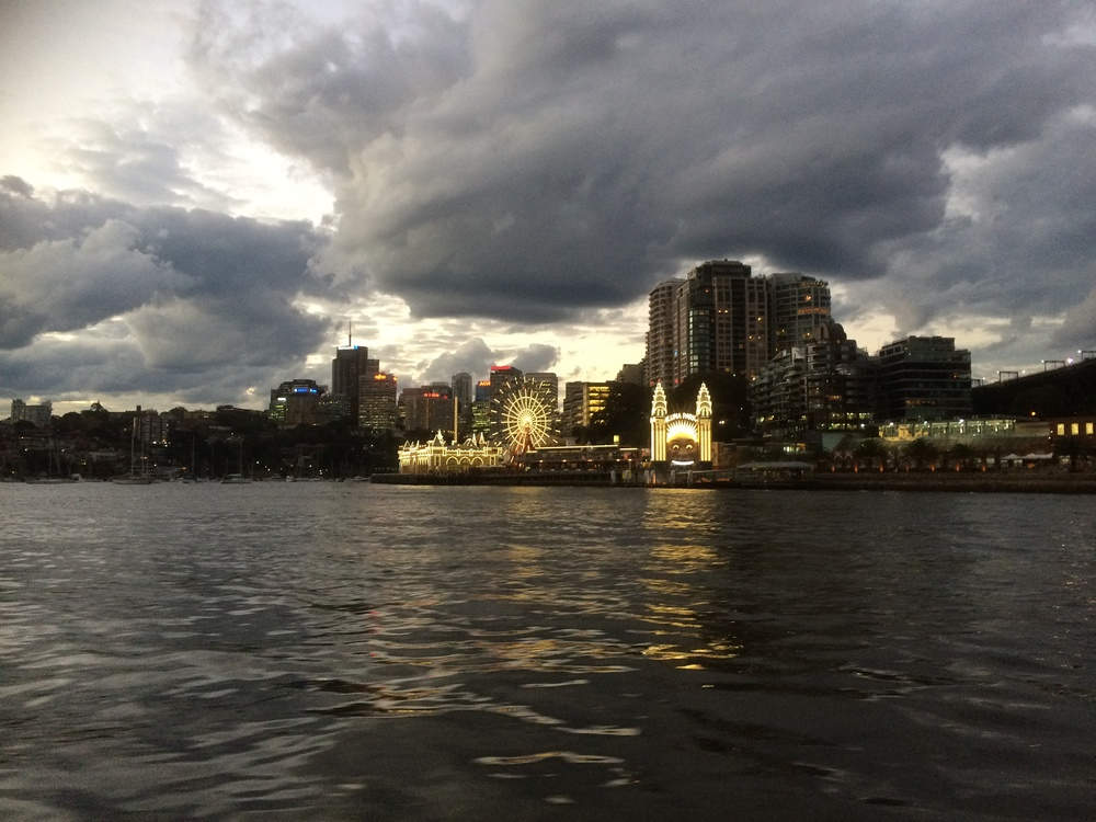 Starting to become stormy as we approach Luna Park..