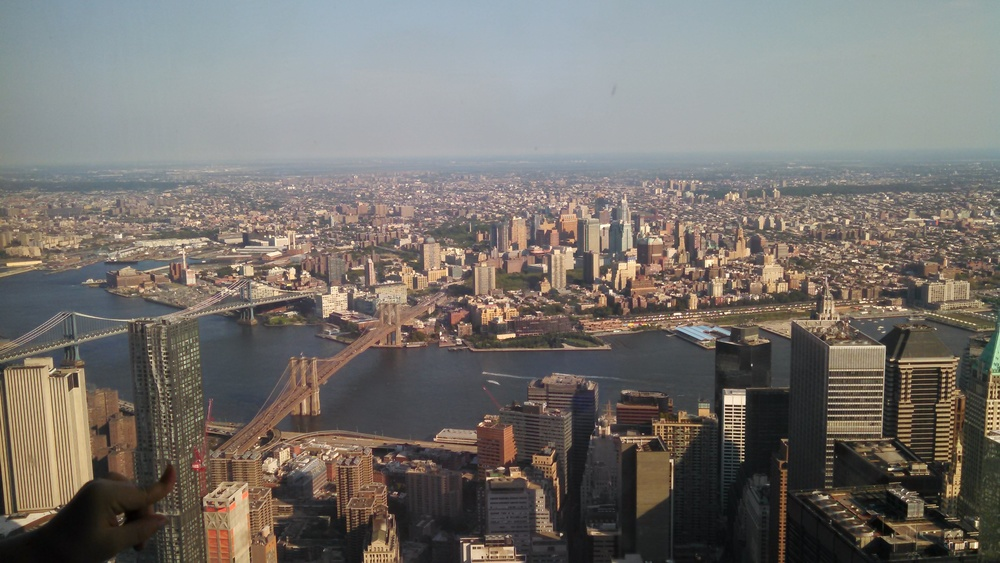 View from the One World Trade Center NY. August 2015.