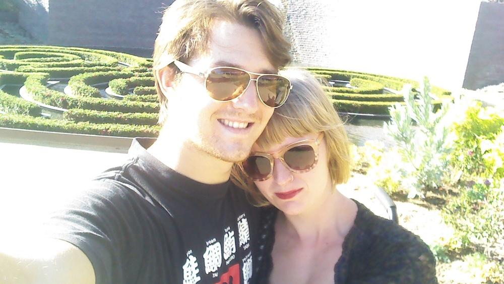 Bryan and Sophia sat the Getty Museum in LA, September 2015.