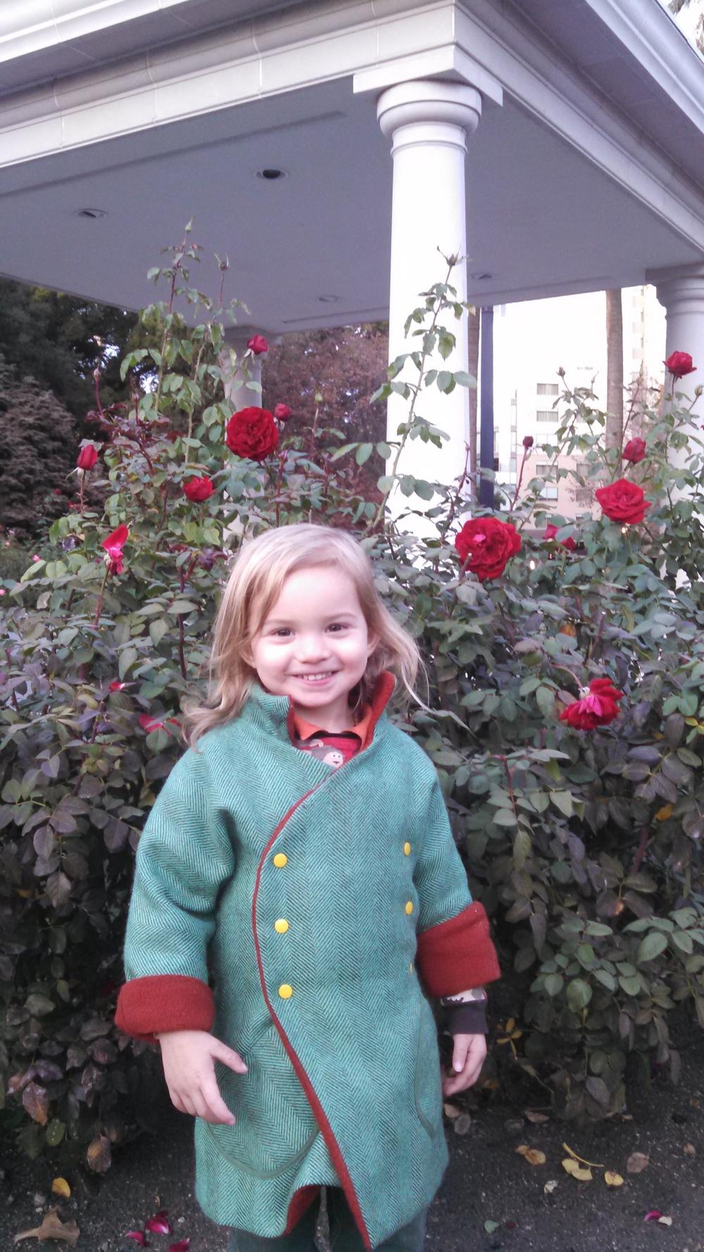Noah at the Capitol Rose Garden, November 2015.