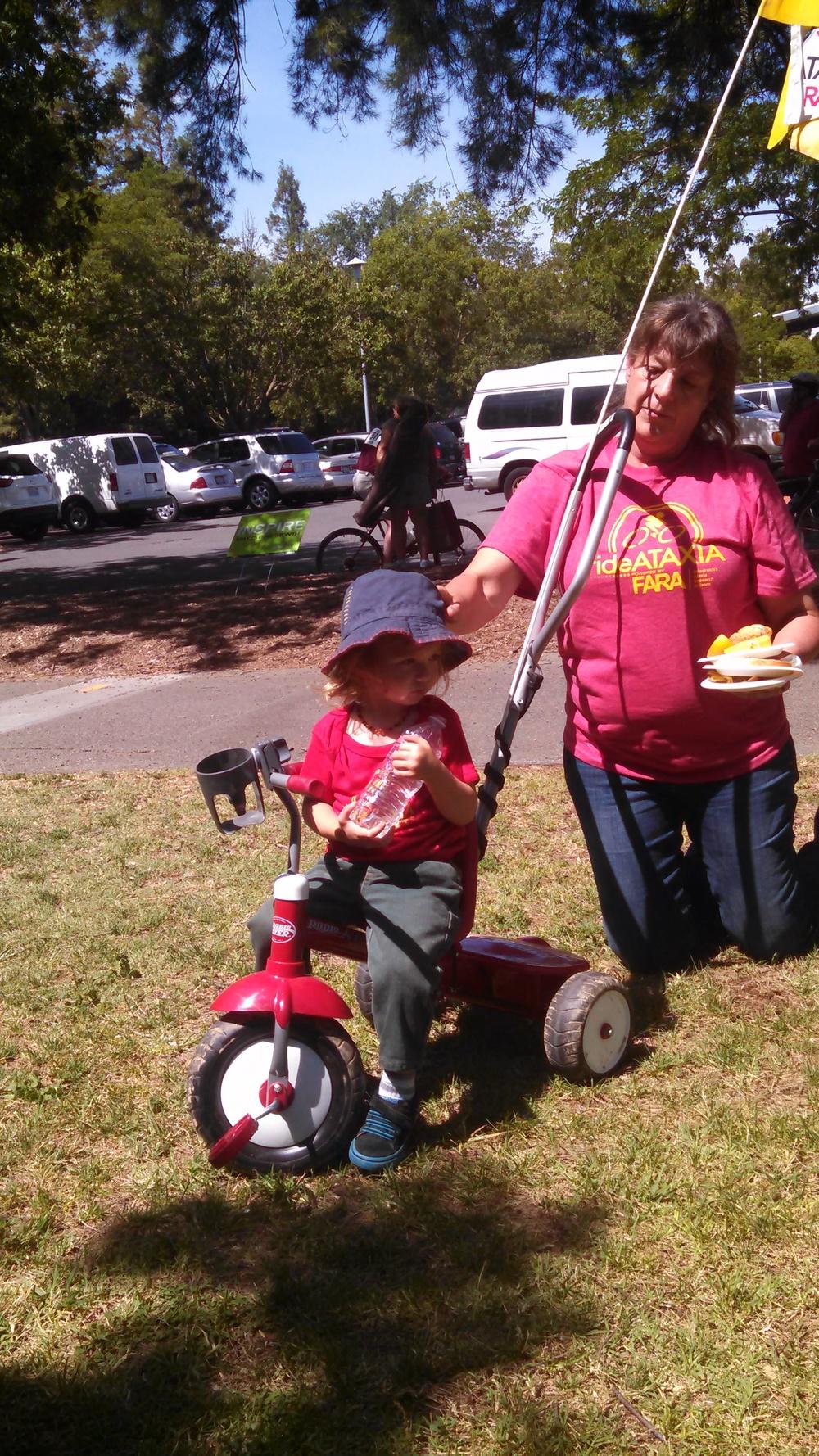 Noah rides his trike at Ride Ataxia 2015 in Davis. May 31, 2015.