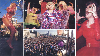 Photo credits: Bunny, Lypsinka: Jerome Albertini Crowd Scene, Ru Paul: Cheryl Dunn