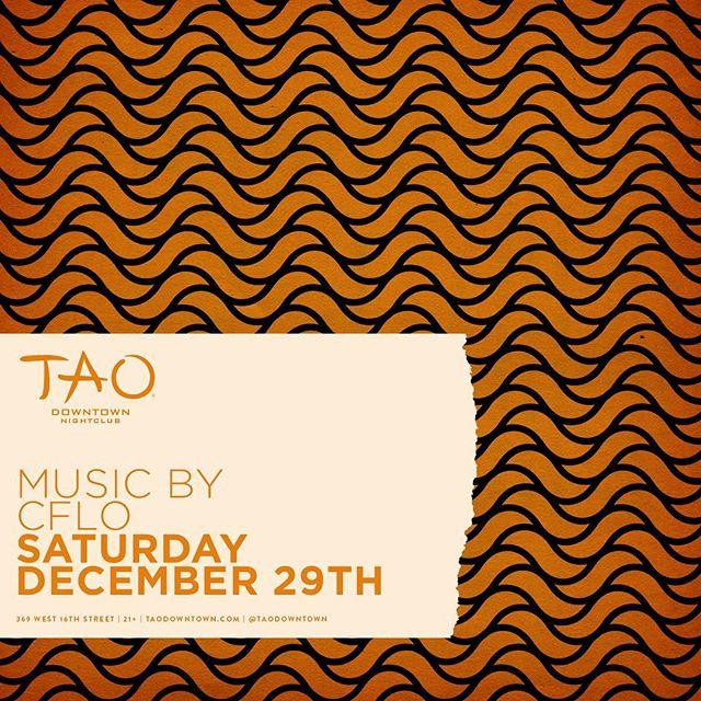 back at @taodowntown tonight 11pm ♨️