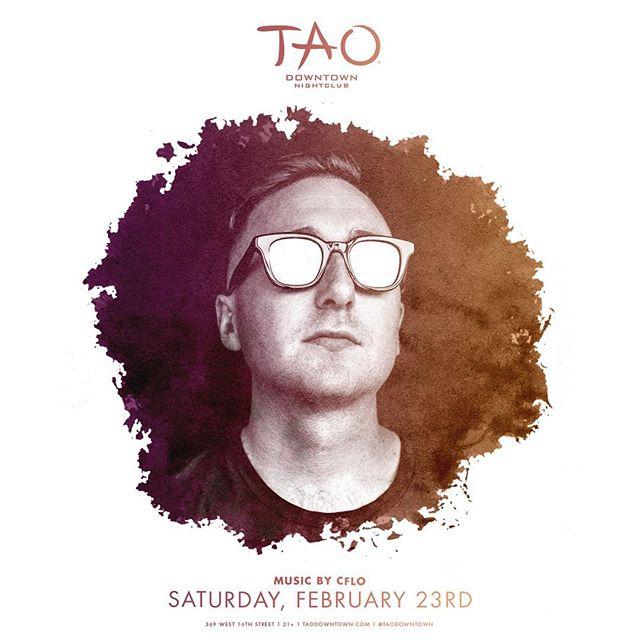 tonight headlining @taodowntown midnight & on, DM for guestlist 📲