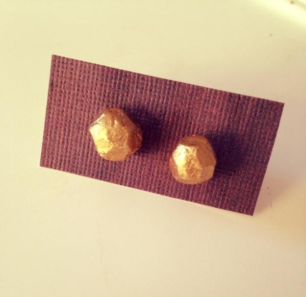 Geometric Gold Studs
