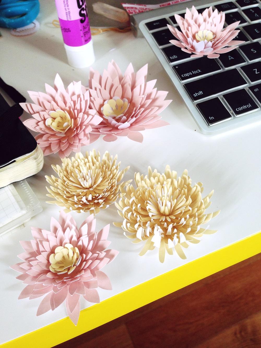 Paper Lilies & Mums