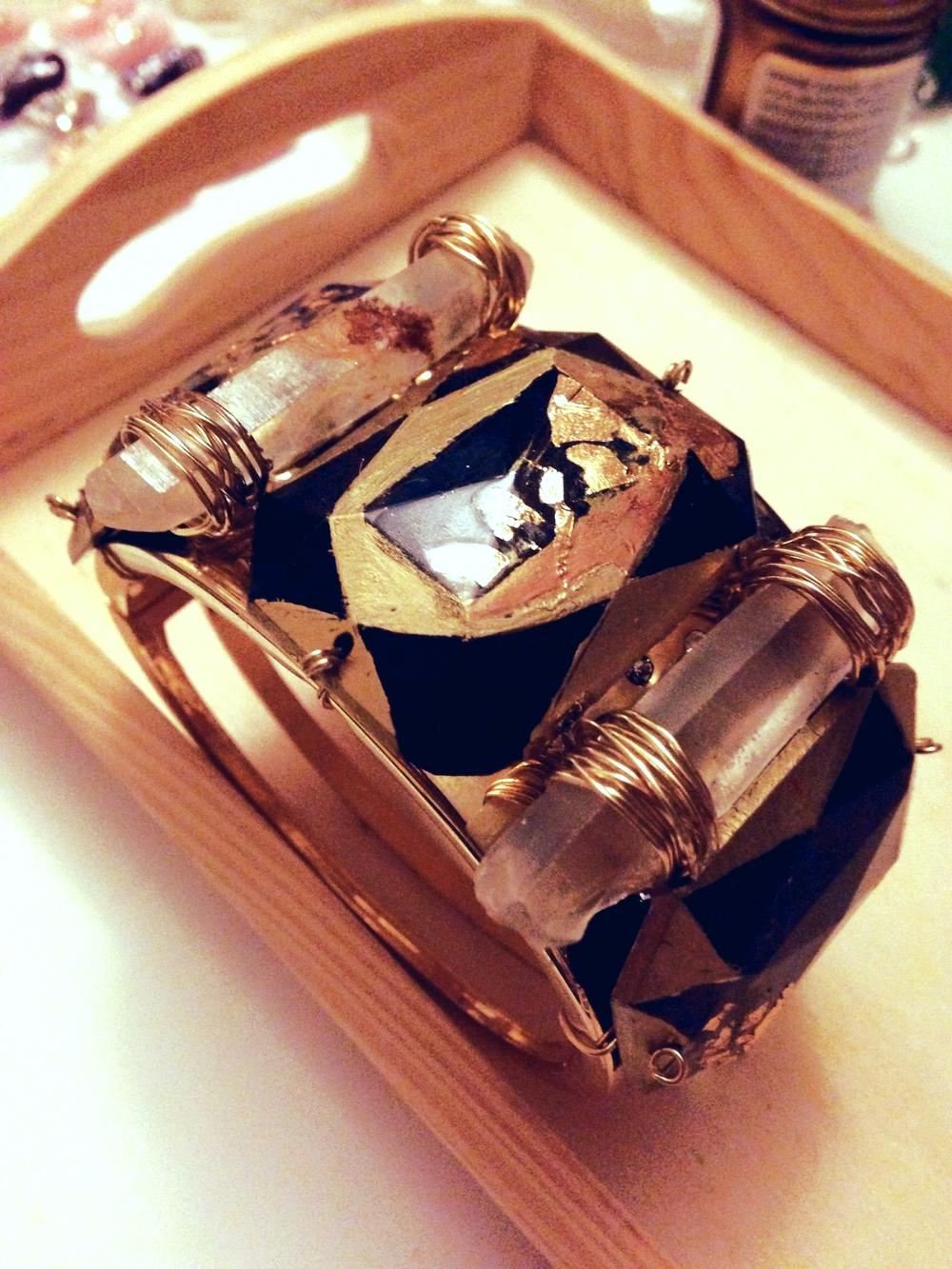 Quartz & Gold Foil Cuff Tutorial