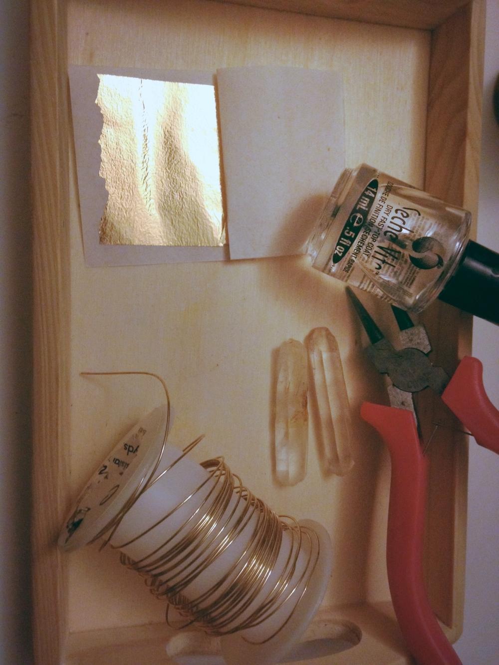 Quartz & Gold Foil Cuff Materials 1