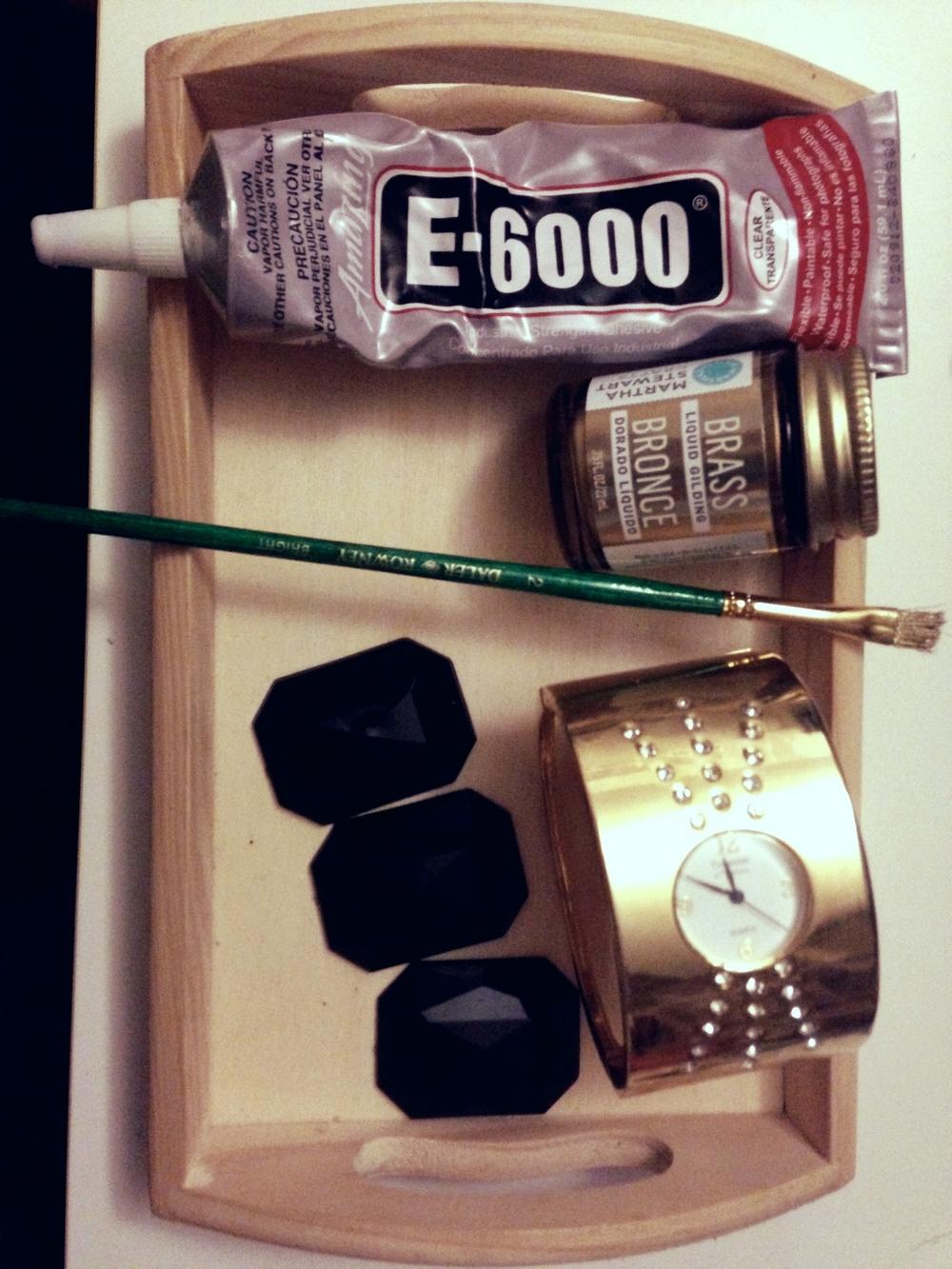 Quartz & Gold Foil Cuff Materials 2