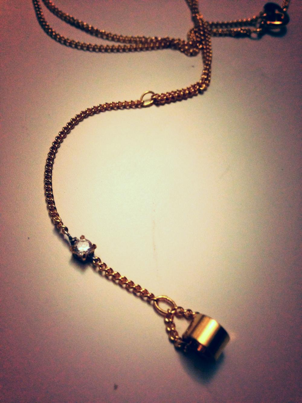 Raw Brass Drop Necklace