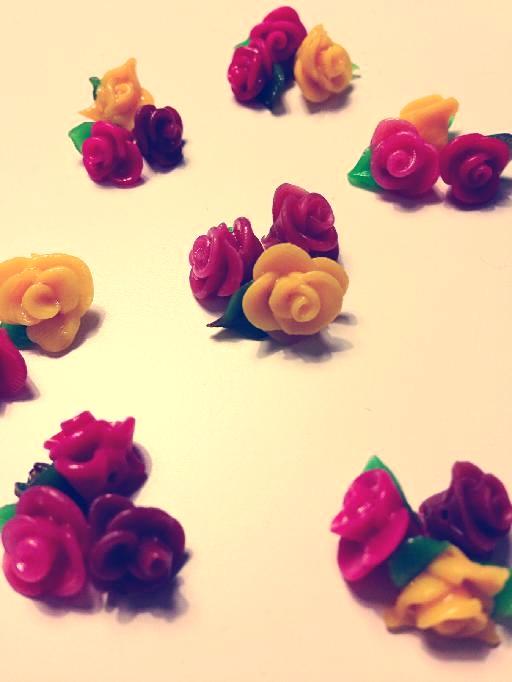Tiny Clay Roses
