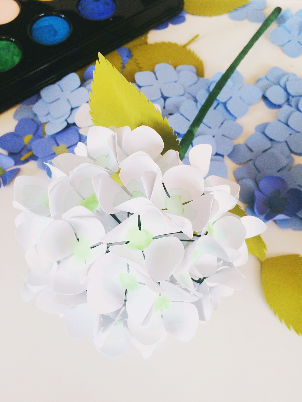 Paper hydrangeas tutorial only just becoming ojbpaperhydrangea14g mightylinksfo