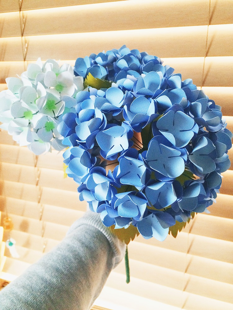 Paper hydrangeas tutorial only just becoming ojbpaperhydrangeabouquetg mightylinksfo