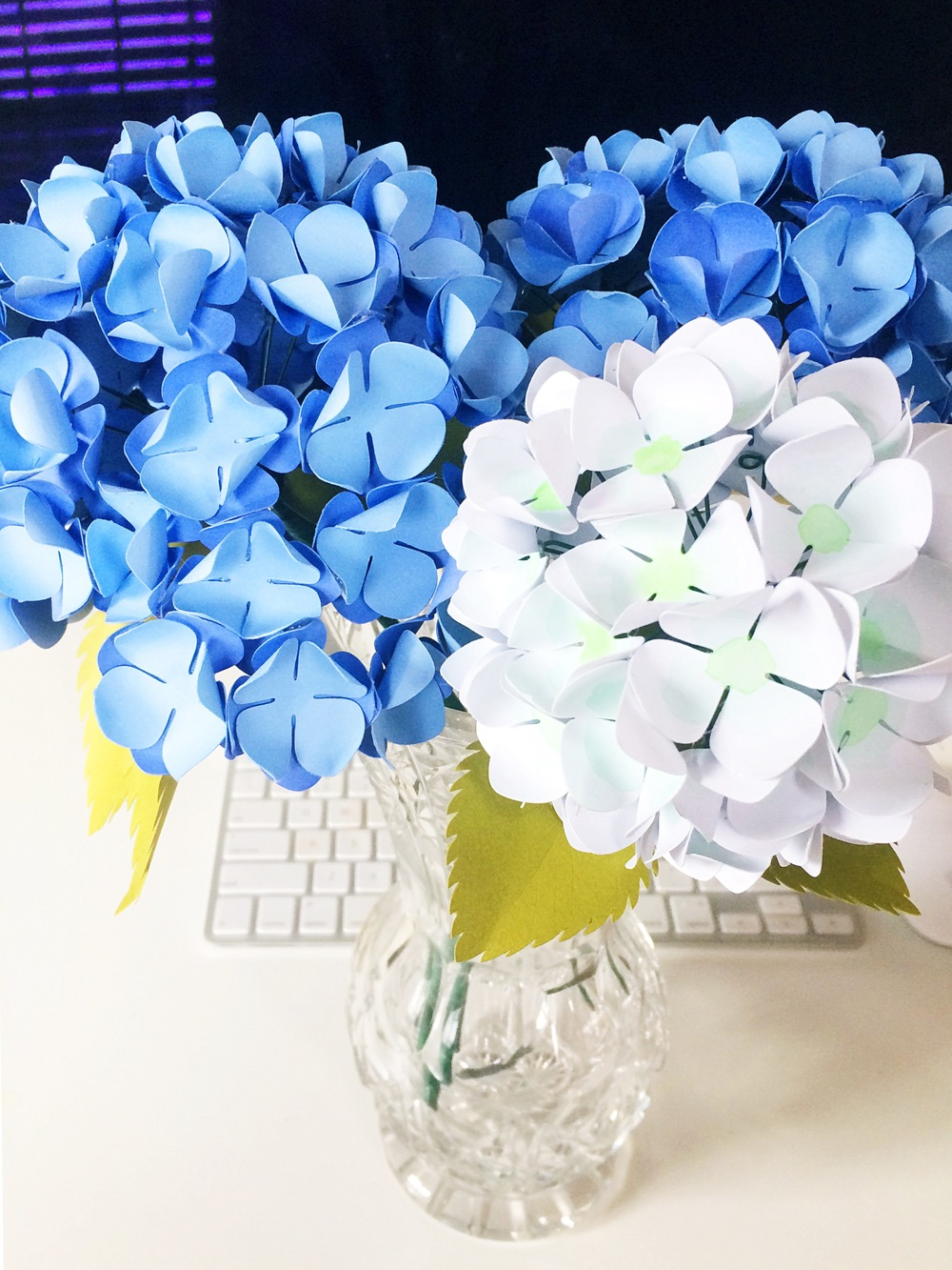 paper hydrangeas tutorial  u2014 only just becoming