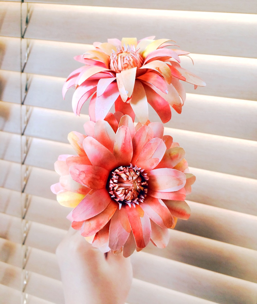 Paper Dahlias Tutorial Only Just Becoming