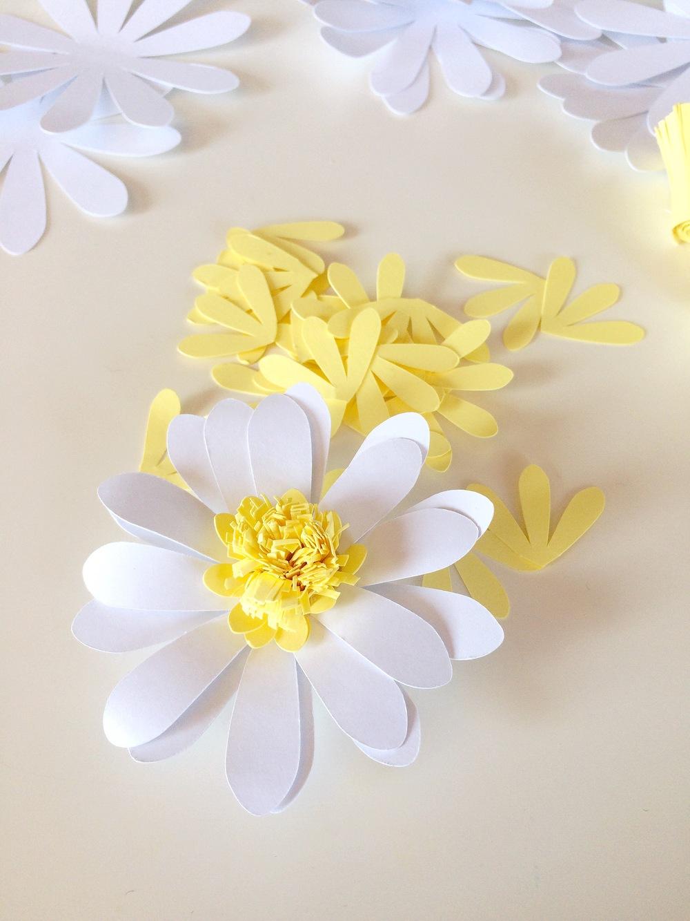 Цветы из бумаги ромашка своими руками