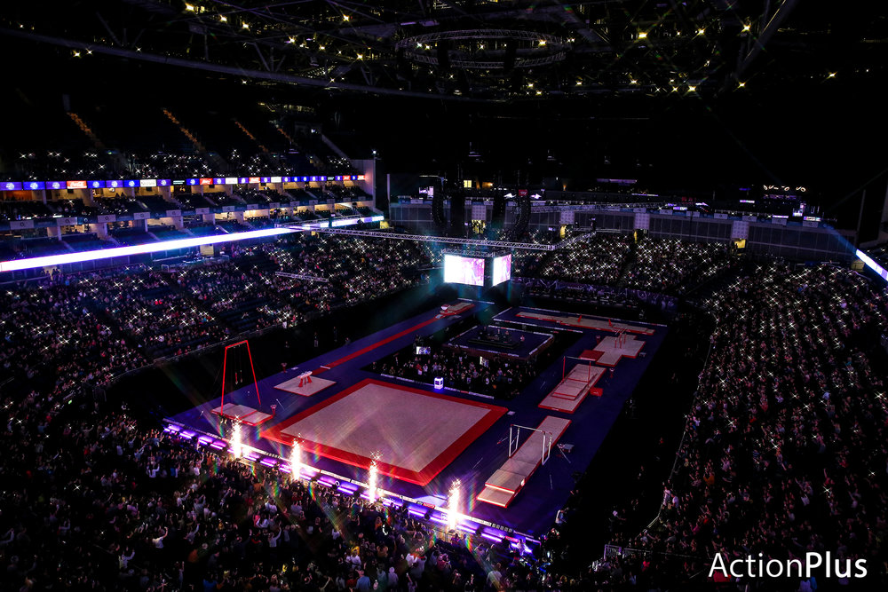 General view of inside the O2 Arena as the 2019 Superstars of Gymnastics kicked off.