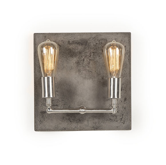 Factory Sconce in Aged Nickel