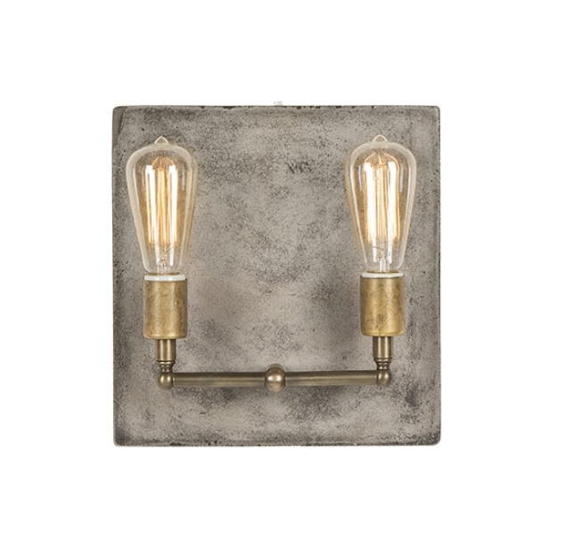 Factory Sconce in Aged Brass