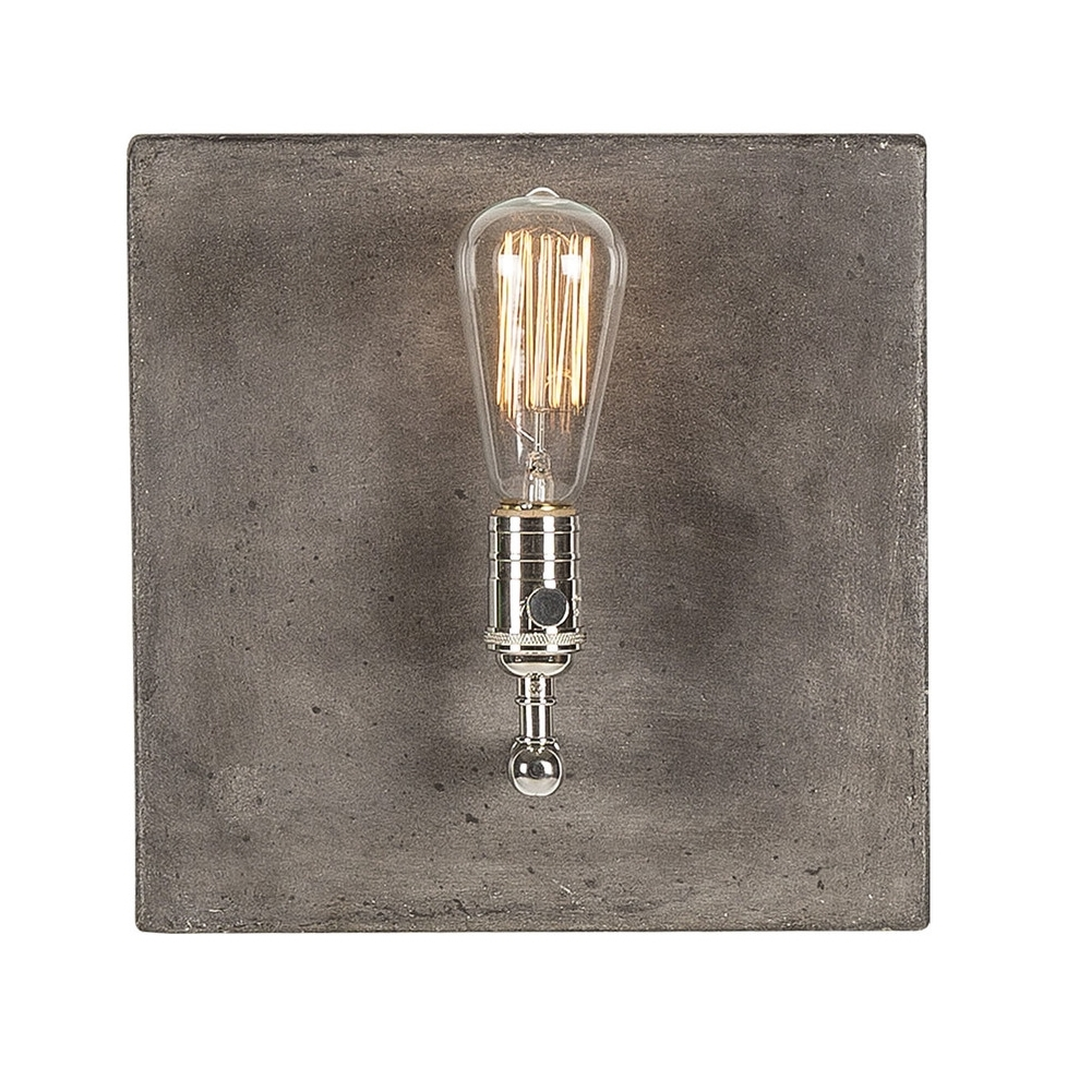 LI052F01 Single light polished nickel - side.jpg