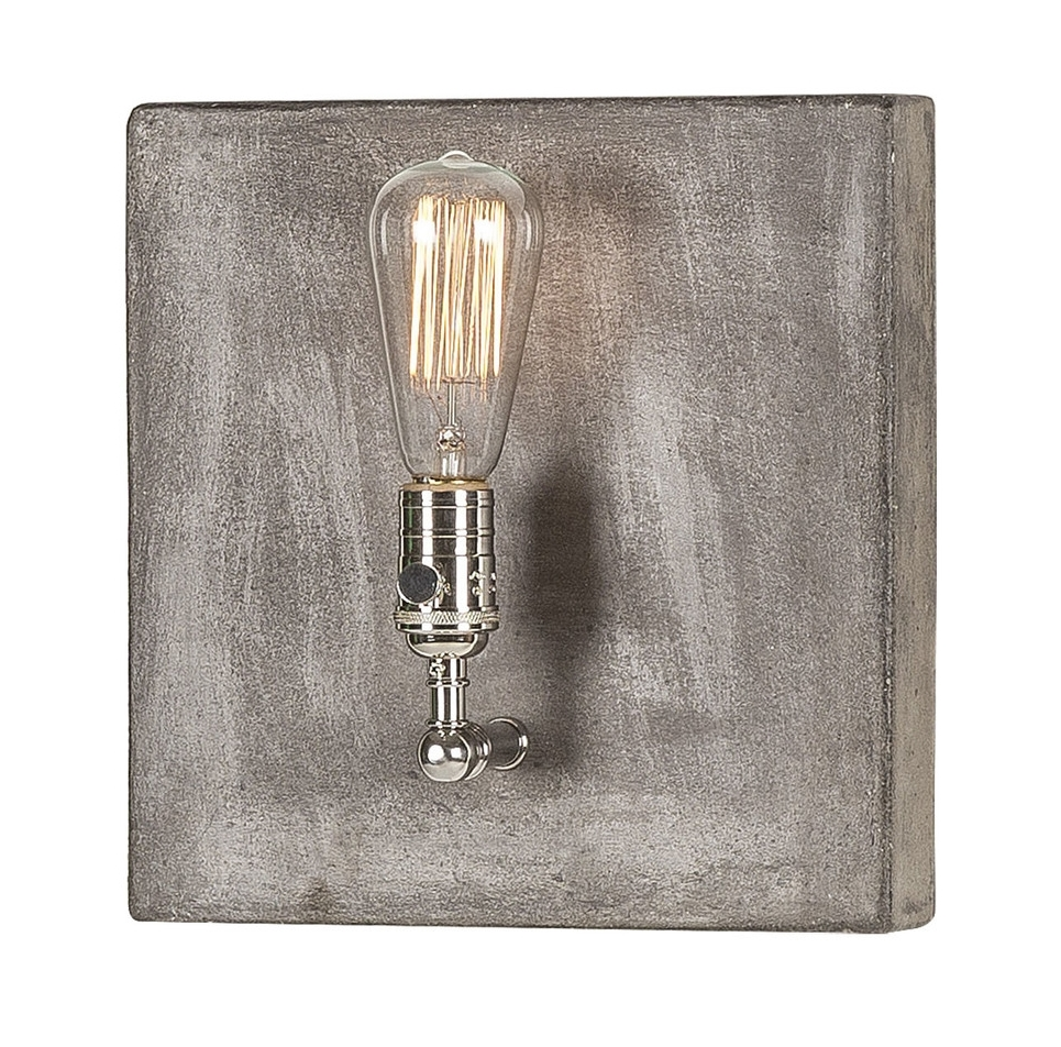 LI052F01 Single light polished nickel -angle.jpg