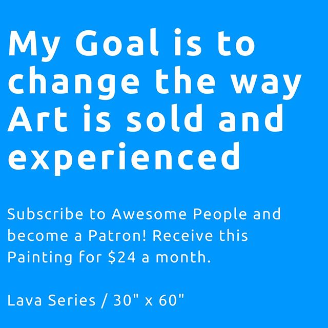 My goal is to change the way are is sold and experienced...subscribe to Awesome People and become a Patron. Receive a small - $6 / medium - $12 / or large painting for $24 a month. When you subscribe you become instantly Awesome! You will also receive the official Newsletter, a colouring printout every month, access to our private blog, and random rewards like paintings and colouring books! . #exploringawesome #paintingsforlife #subscriber #Powergirls #subscribeforart #empoweringartists #bethechangeyouwanttobe #bethechangeyouwanttoseeintheworld #loveislove #femalepreneur #doitfortheprocess #creativelifehappylife #dowhatyoulove #positivemood #findyourstrong #exploringawesome #adultcolouring #colouringbook #adultcoloring #coloringbook