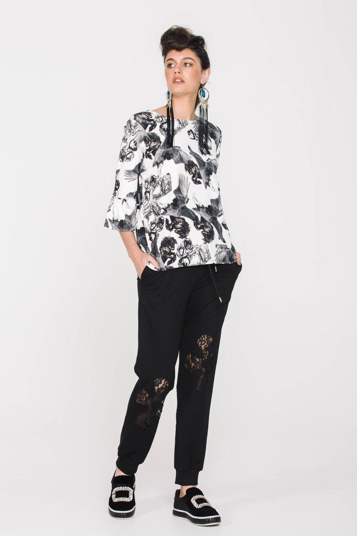 6115X Lace Insert Pants Black Flower 6106X Eliana Tee Horses Angels Ivory
