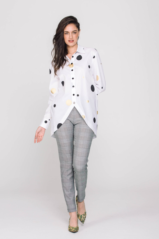 6117X Stella Shirt Dotti White