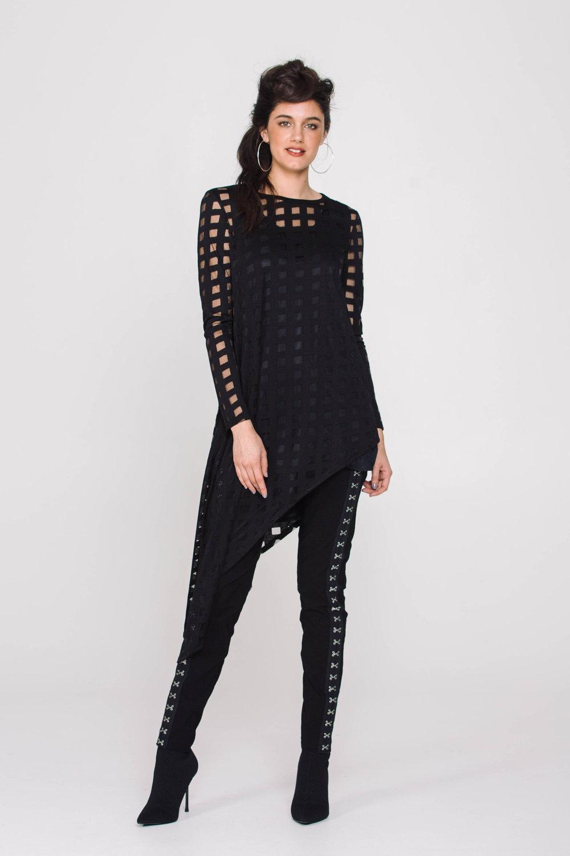 6118X Elvira Tunic Burnout Black