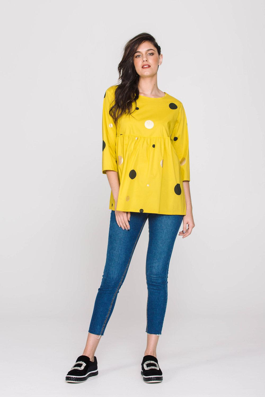 6165X Chaplin Top Dotti Mustard