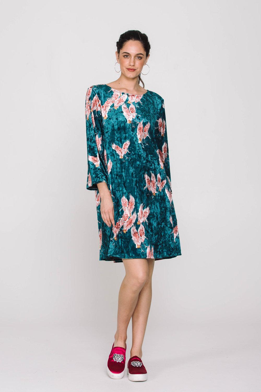 6010X Mirage Dress Flamingos Green