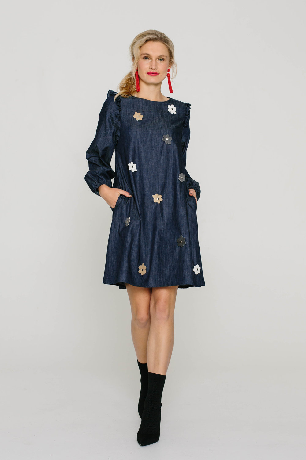 6130W Stevie Dress Blue