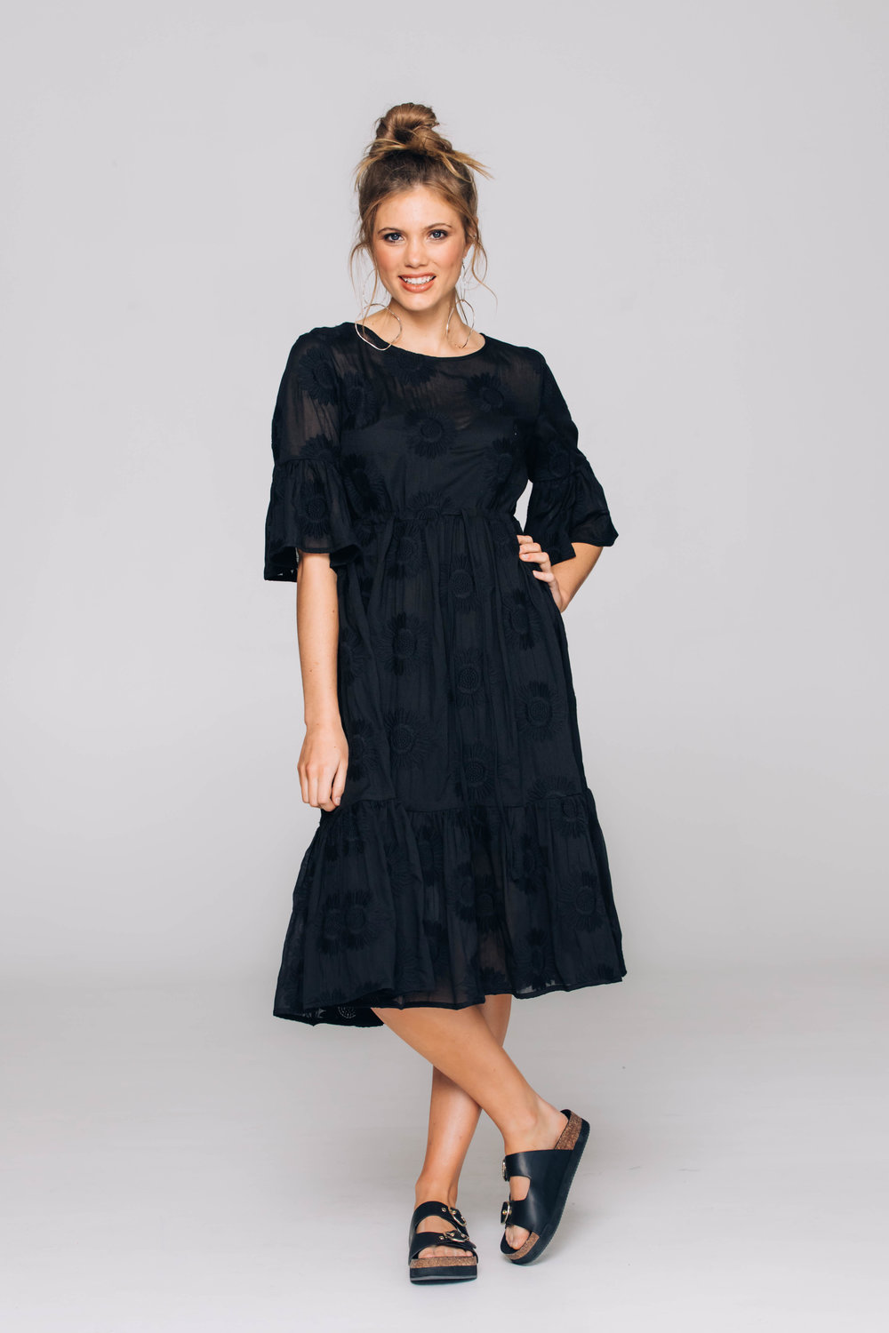 6213T Palm Dress, Black