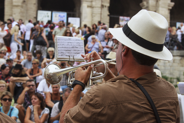 Trumpeter at Arles, by Tom Miller. All rights reserved.