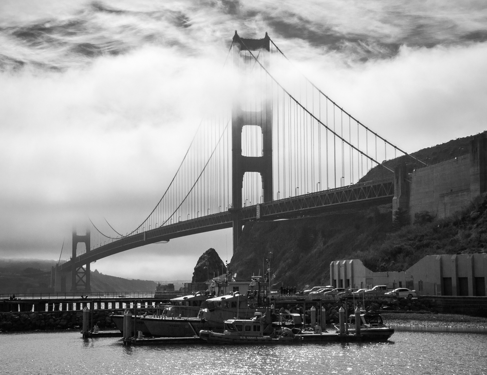 Golden Gate B-W, by Bill Lane. All rights reserved.